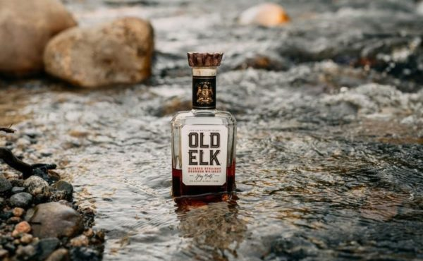 A bottle of Old Elk whiskey at Seven Grand Whiskey Bar Dairy Block Downtown Denver